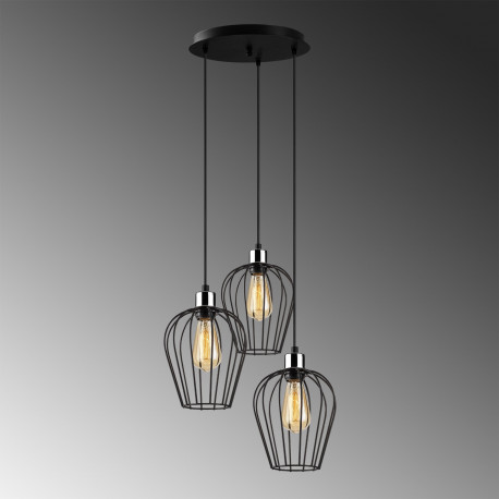 Metalen hanglamp industrieel metaal korf vorm
