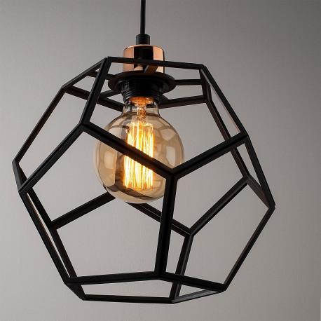 Moderne 3-voudige E27 hanglamp metaal zwart met brons