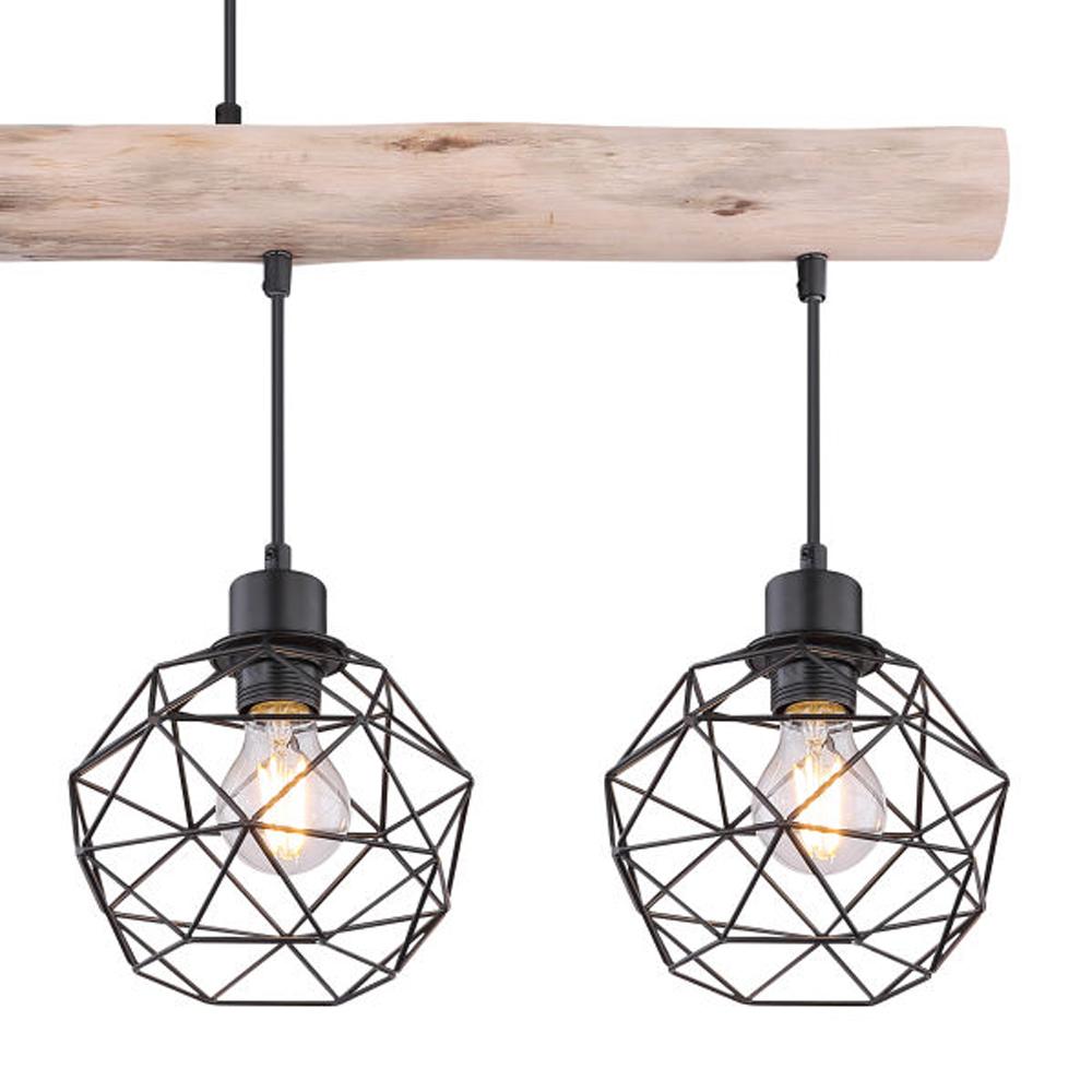 Moderne Hanglamp | 4x E27 fitting Zwart metaal Lioni - lampenkappen