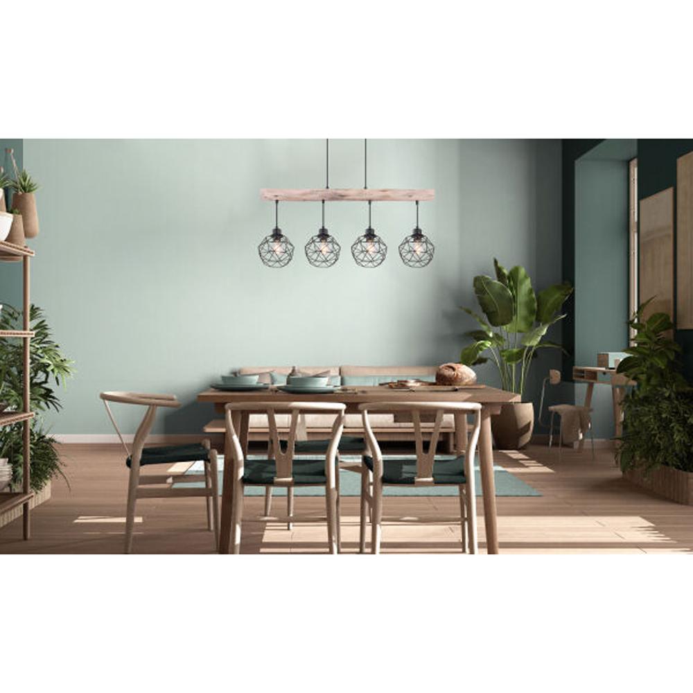 Moderne Hanglamp | 4x E27 fitting Zwart metaal Lioni - sfeerfoto