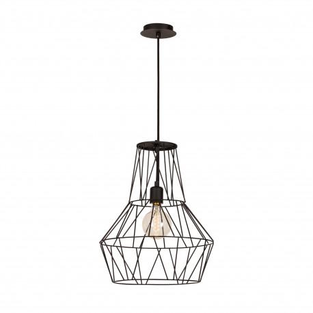 Moderne hanglamp met zwart industrieel metalen look