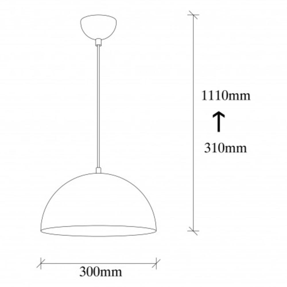 Hanglamp zwart goud modern 1 x E27 fitting - afmetingen