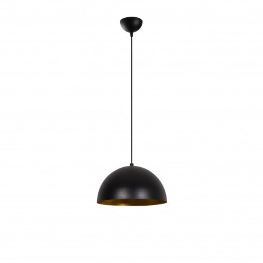Hanglamp zwart goud modern 1 x E27 fitting - vooraanzicht lamp uit