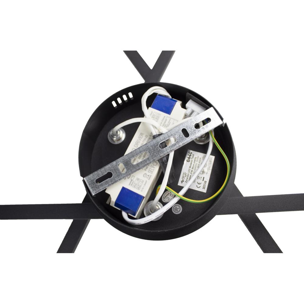 Moderne LED Plafondlamp zwart - met 3 draaibare staven - 27 watt - 4000K naturel wit - aansluiting