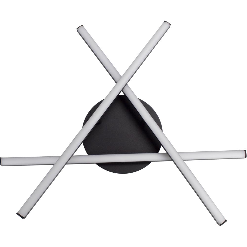 Moderne LED Plafondlamp zwart - met 3 draaibare staven - 27 watt - 4000K naturel wit - onderaanzicht