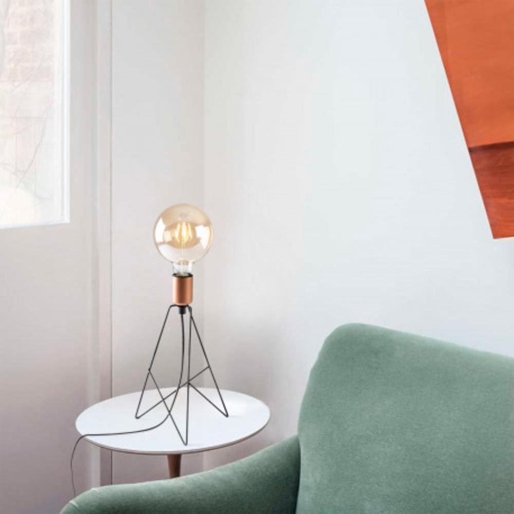Tafellamp modern zwart koper - sfeerfoto inrichting
