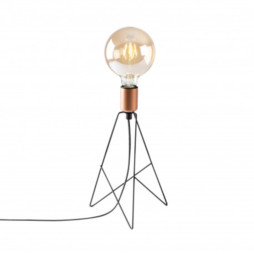 Tafellamp modern zwart koper - vooraanzicht