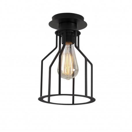 Moderne metalen plafondlamp zwart E27