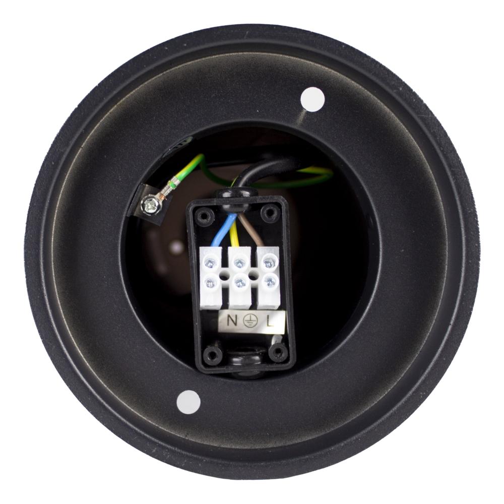 Moderne Tuinpaal - Buiten paal - tuinlamp - buitenstaander - rond - zwart - 45cm - onderkant