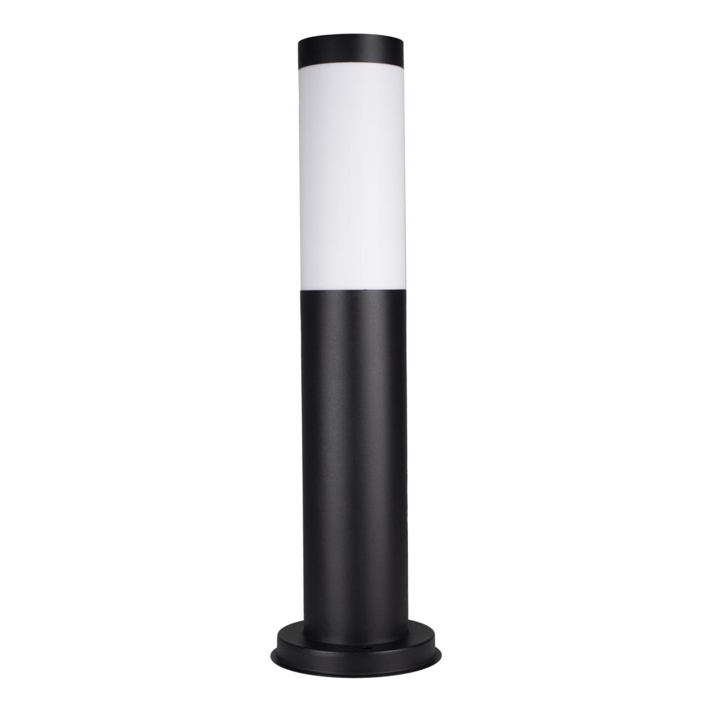 Moderne Tuinpaal - Buiten paal - tuinlamp - buitenstaander - rond - zwart - 45cm - vooraanzicht