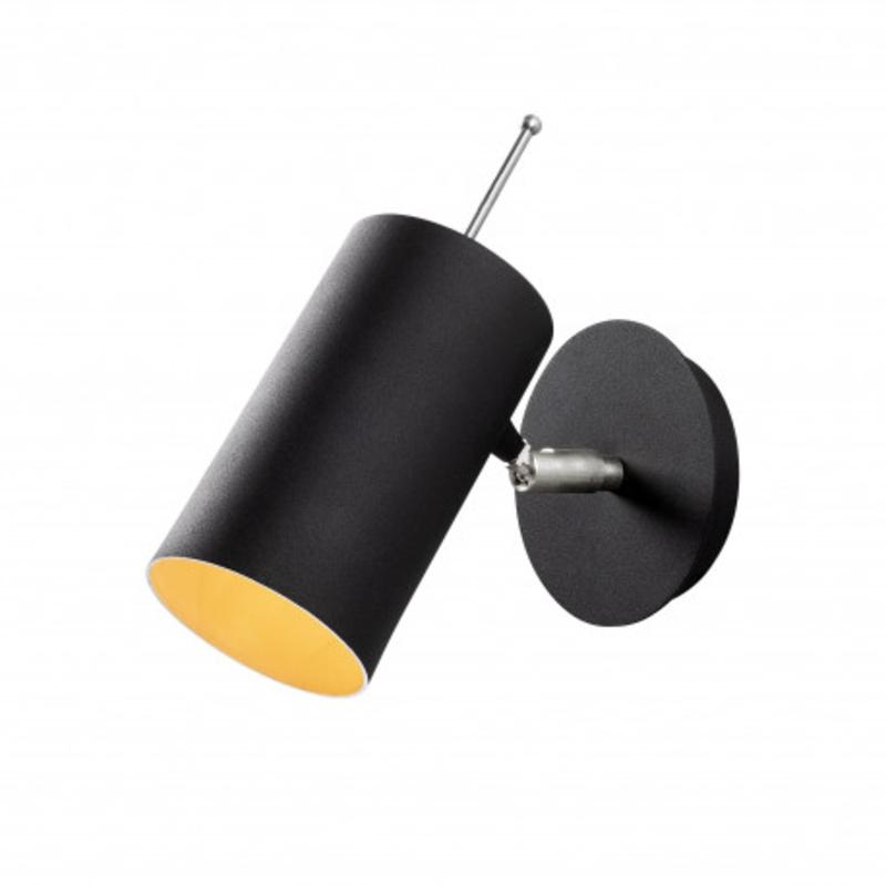 Moderne wandlamp zwart metaal