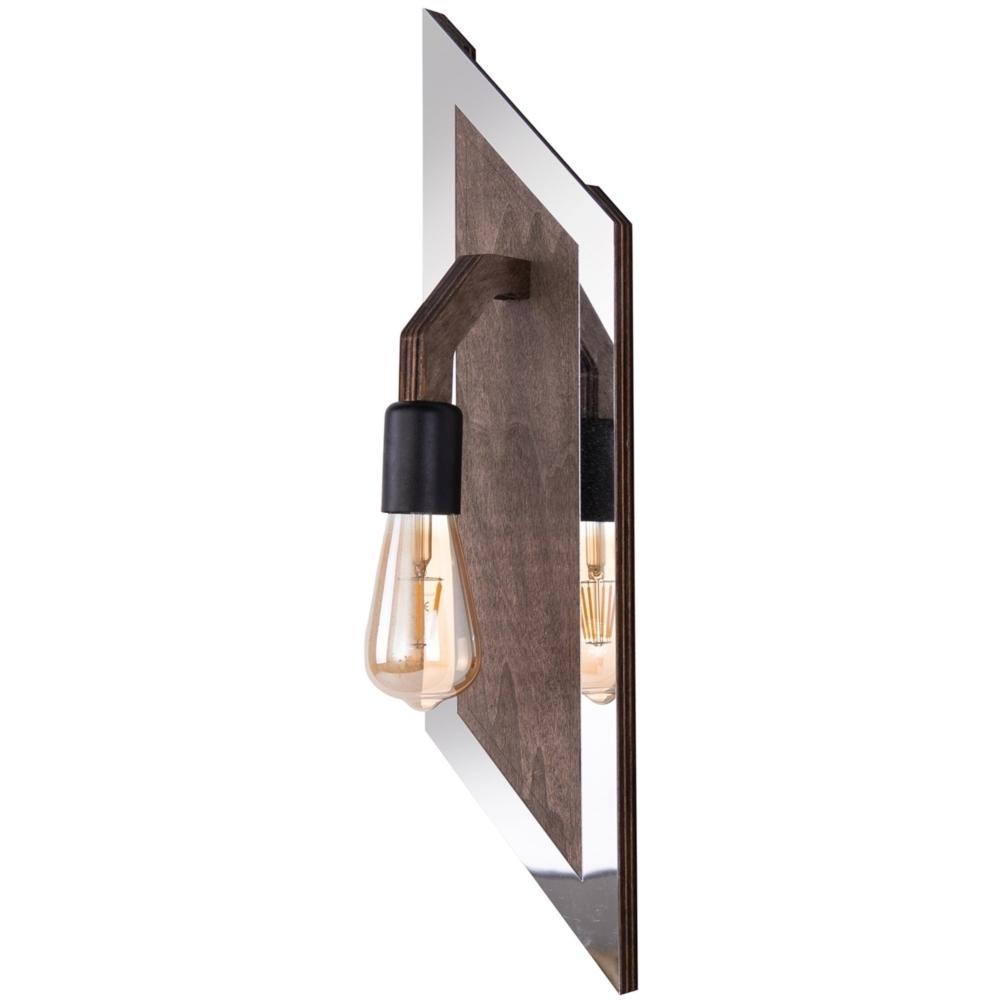 Moderne Wandlamp _ Spiegel - Hout _ Mimoza