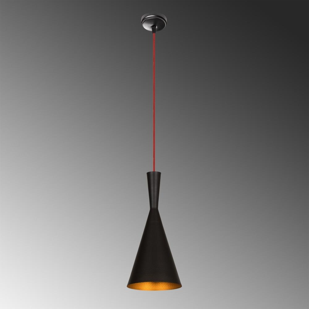 Moderne hanglamp - E27 fitting - Zwart metaal- Novo - sfeer