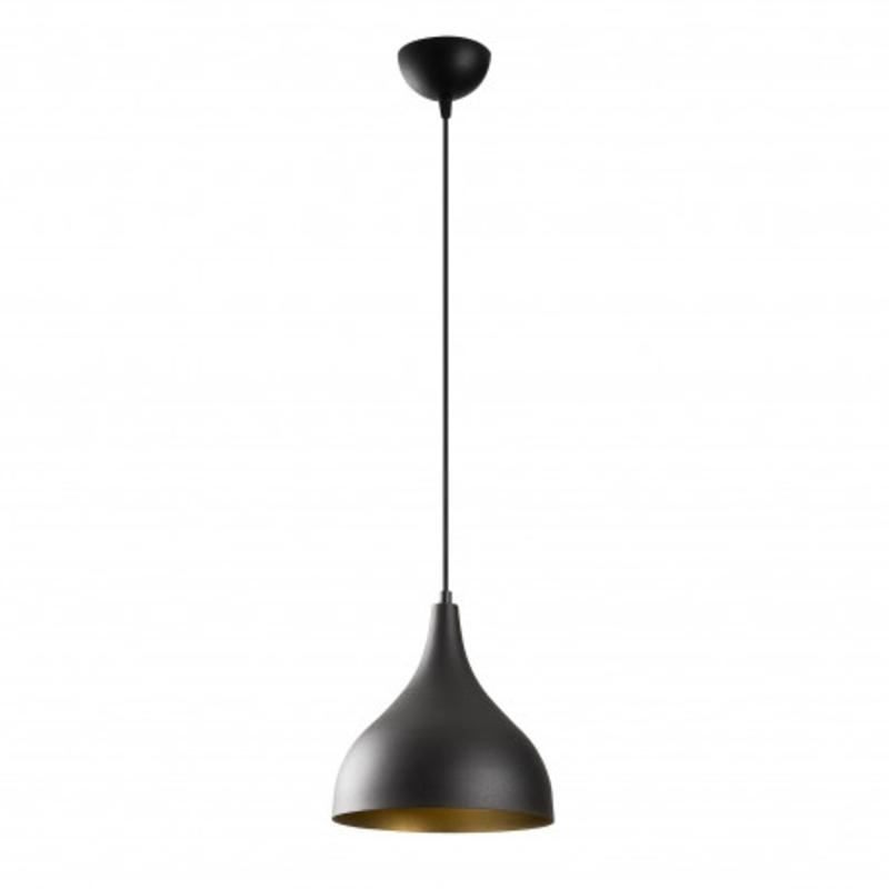 Moderne zwarte enkele hanglamp industrieel