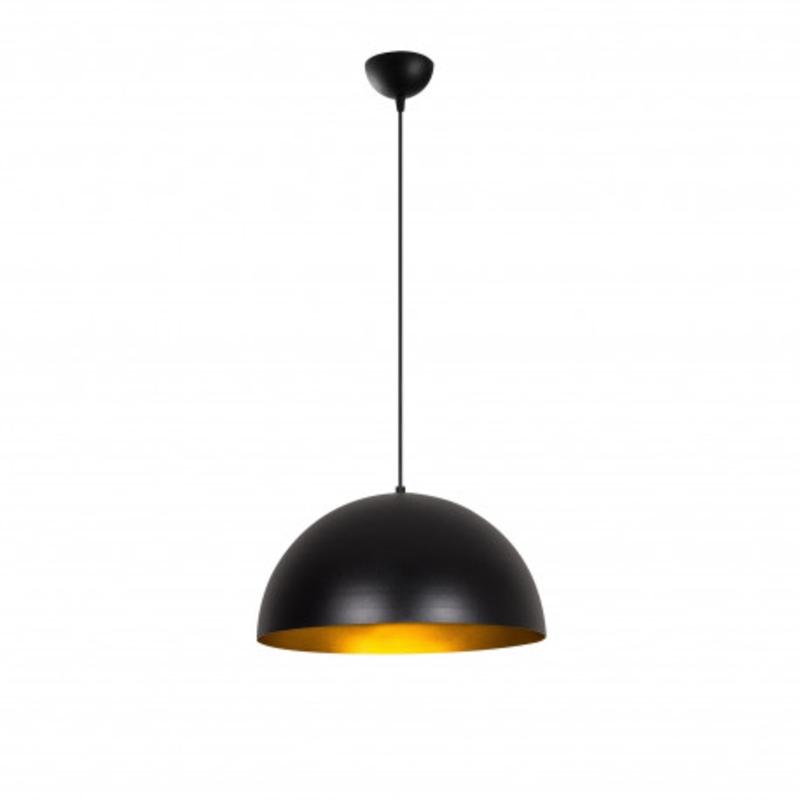 Moderne hanglamp rond zwart met goud 40cm