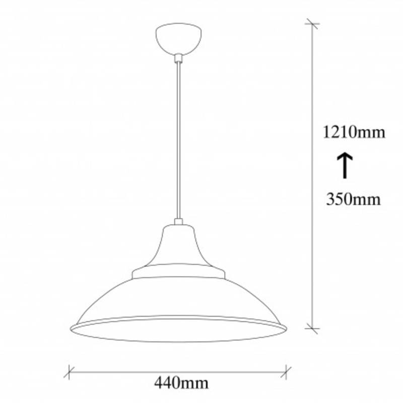Moderne hanglamp zwart met gouden lampenkap 44cm rond afmetingen