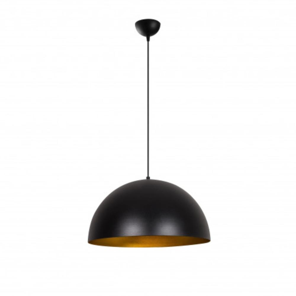 Hanglamp zwart modern goud 1 x E27 fitting - vooraanzicht aan
