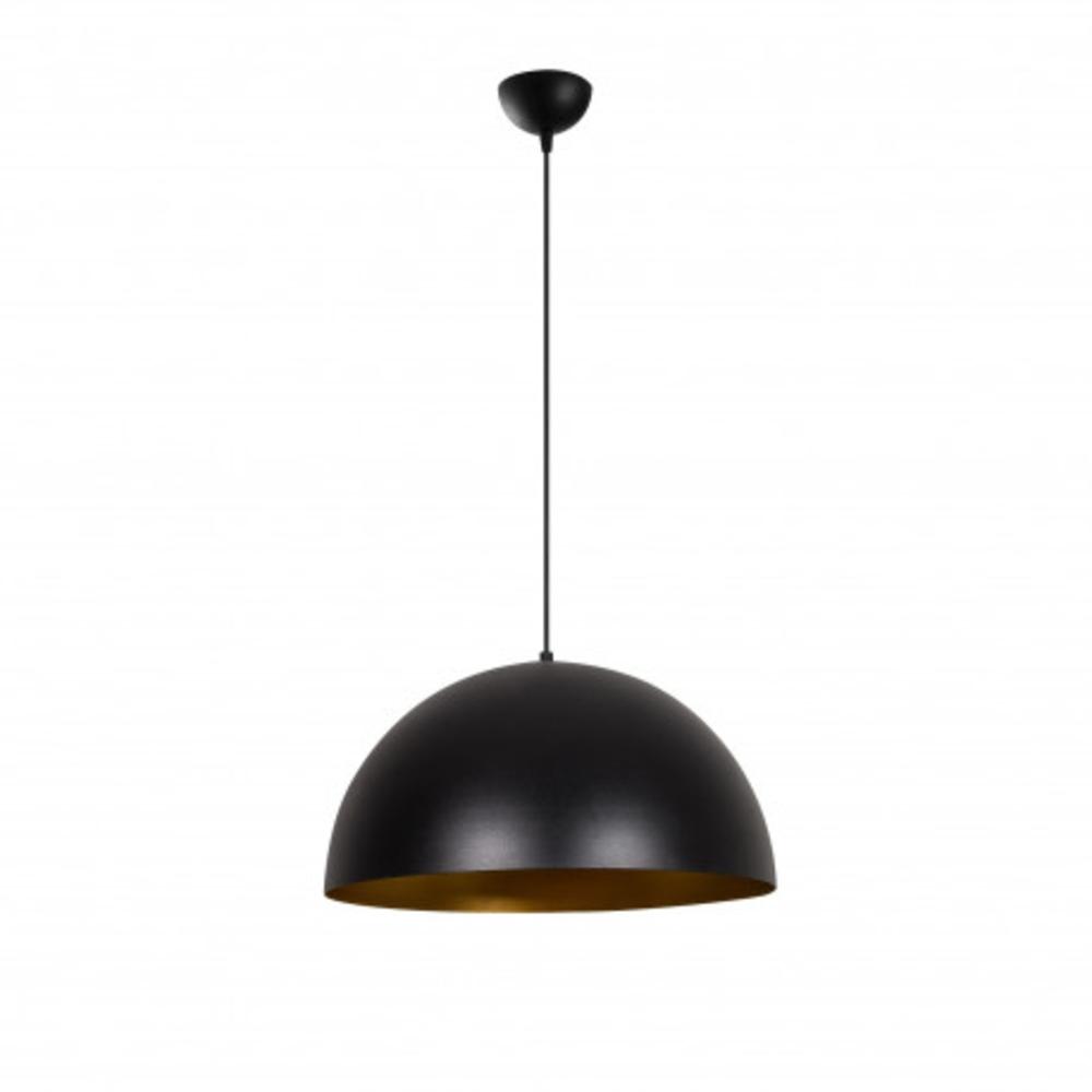 Hanglamp zwart modern goud 1 x E27 fitting - vooraanzicht uit