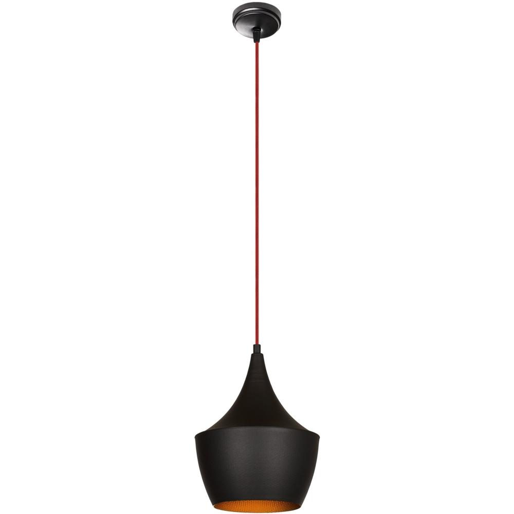Moderne hanglamp zwart goud - E27 fitting - 23 cm - Luanda - vooraanzicht