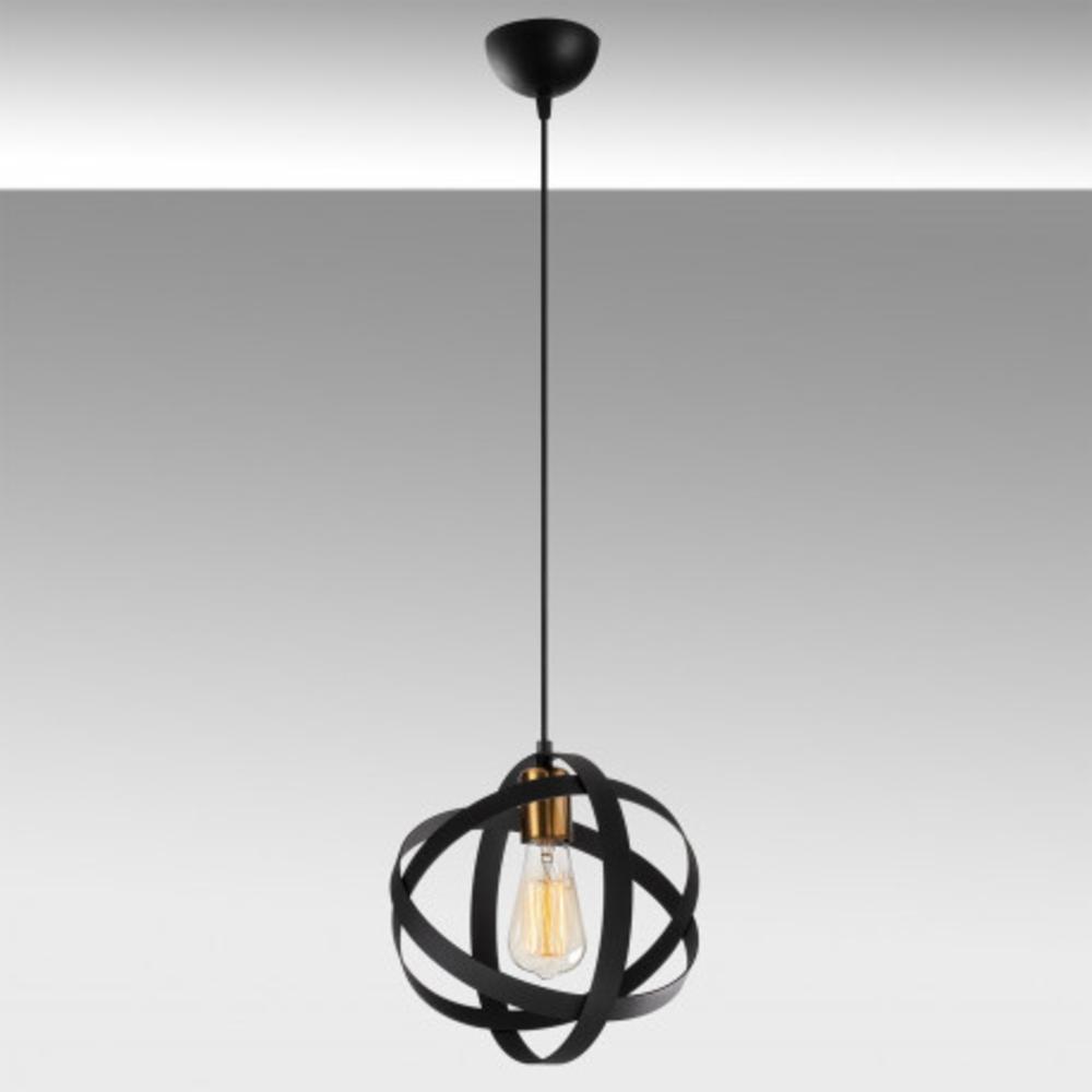 Ronde moderne hanglamp 1 x E27 fitting - grijze achtergrond