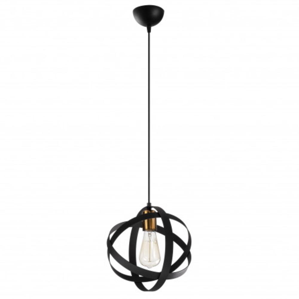 Ronde moderne hanglamp 1 x E27 fitting - vooraanzicht lamp uit