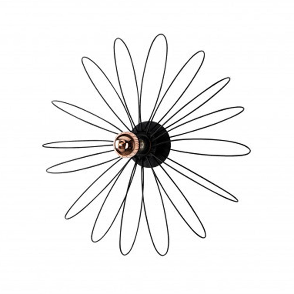 Led wanddecoratie - wandarmatuur - E27 fitting - bloem - vooraanzicht lamp uit