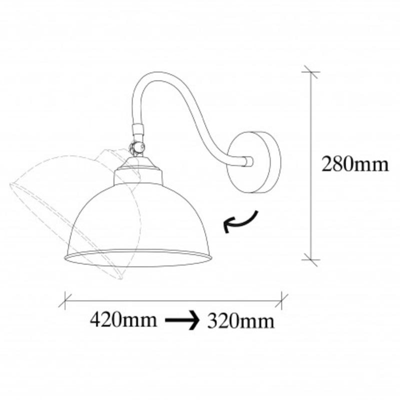Zwarte moderne hanglamp rond 21cm afmetingen