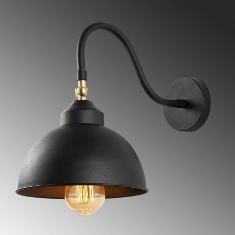 Zwarte moderne hanglamp rond 21cm
