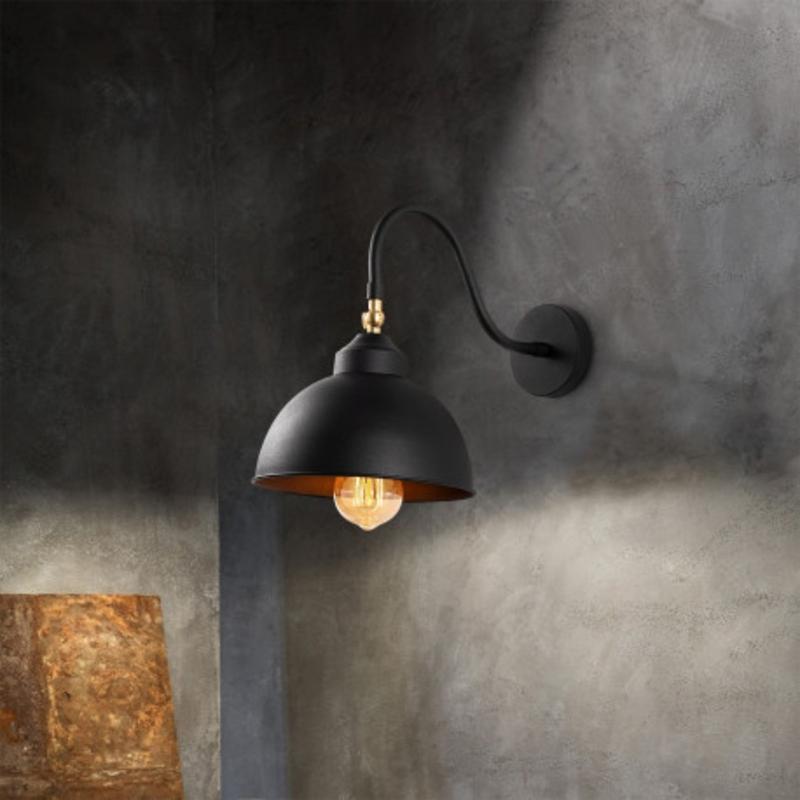 Zwarte moderne hanglamp rond 21cm sfeerfoto