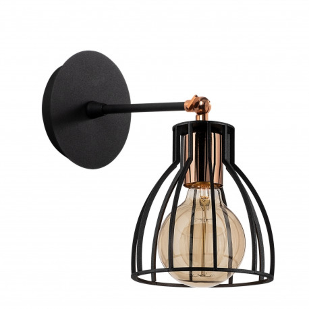 Wandlamp modern zwart brons 1 x E27 fitting - lamp uit