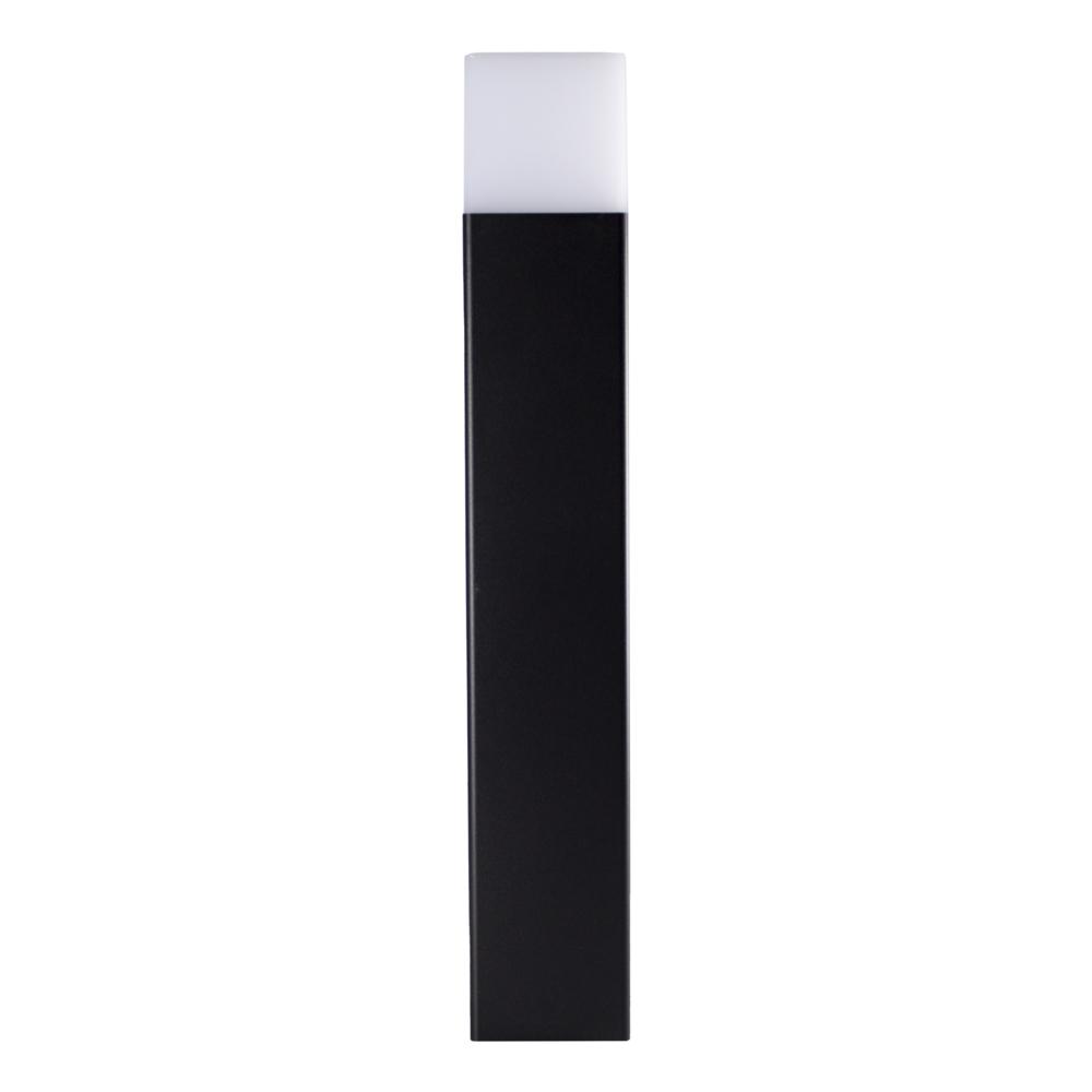 Moderne zwarte tuinpaal 50cm E27 fitting Oasis - vierkant - dimbaar - voorkant