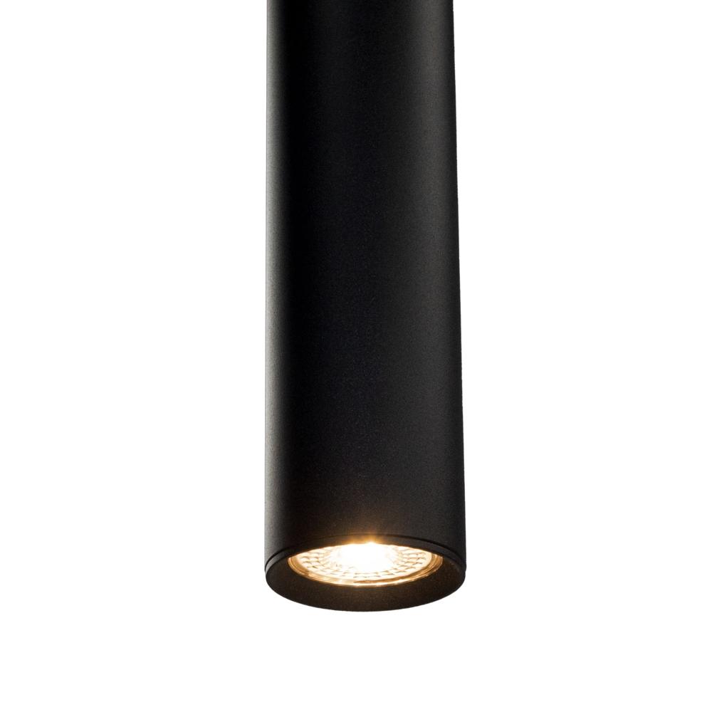 Onderkant LED hanglamp zwart - langwerpig - GU10 fitting - dimbaar - 2700K warm wit