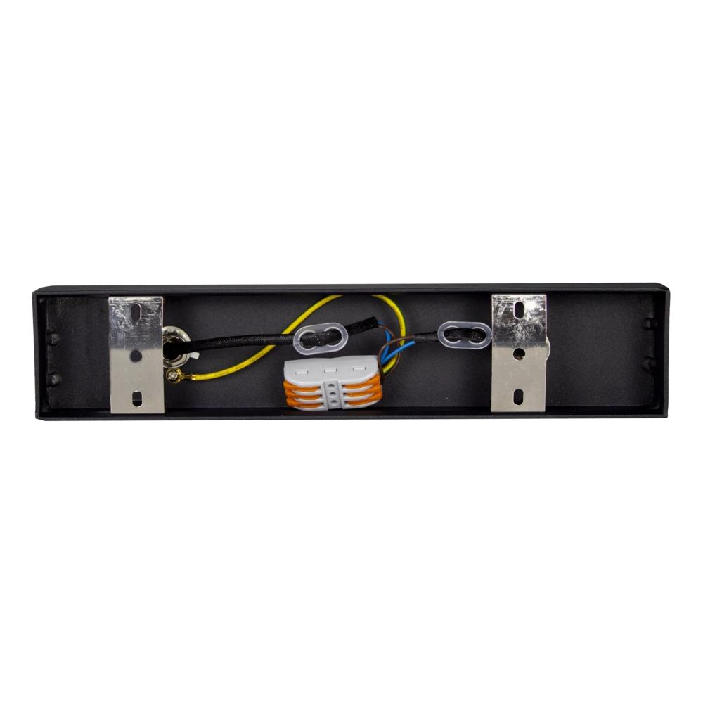Opbouw AR111 spot armatuur - dubbel - zwart - kantelbaar - dimbaar - GU10 fitting - binnenkant