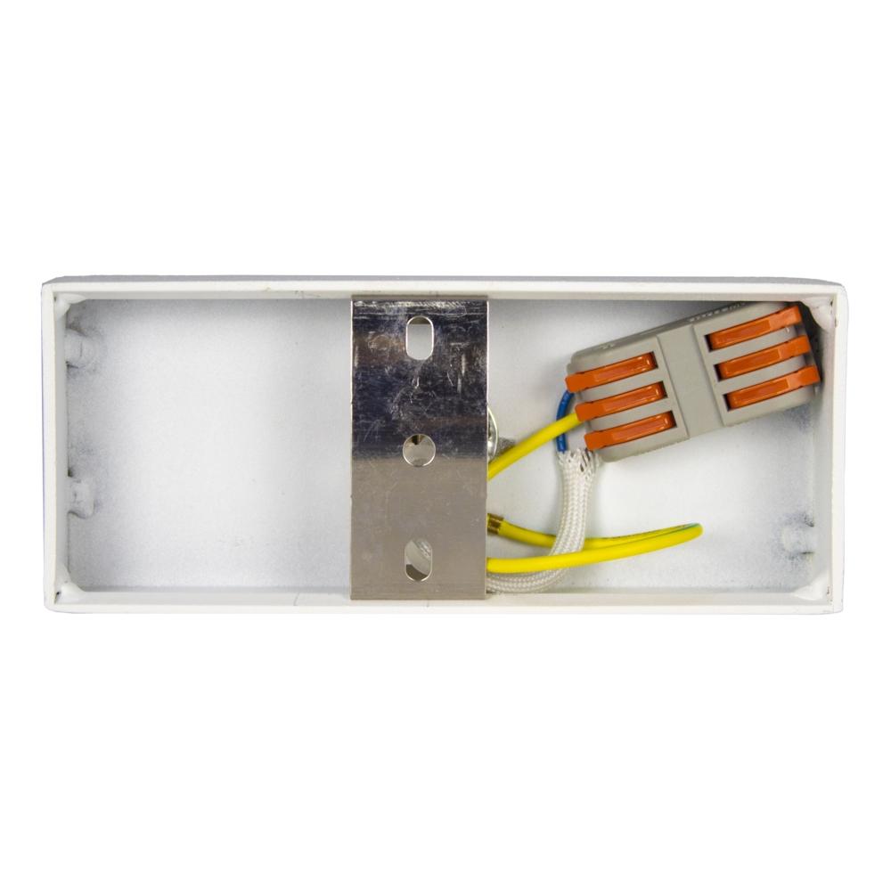 Opbouw AR111 spot armatuur - enkel - WIT - kantelbaar - dimbaar - GU10 fitting - binnekant