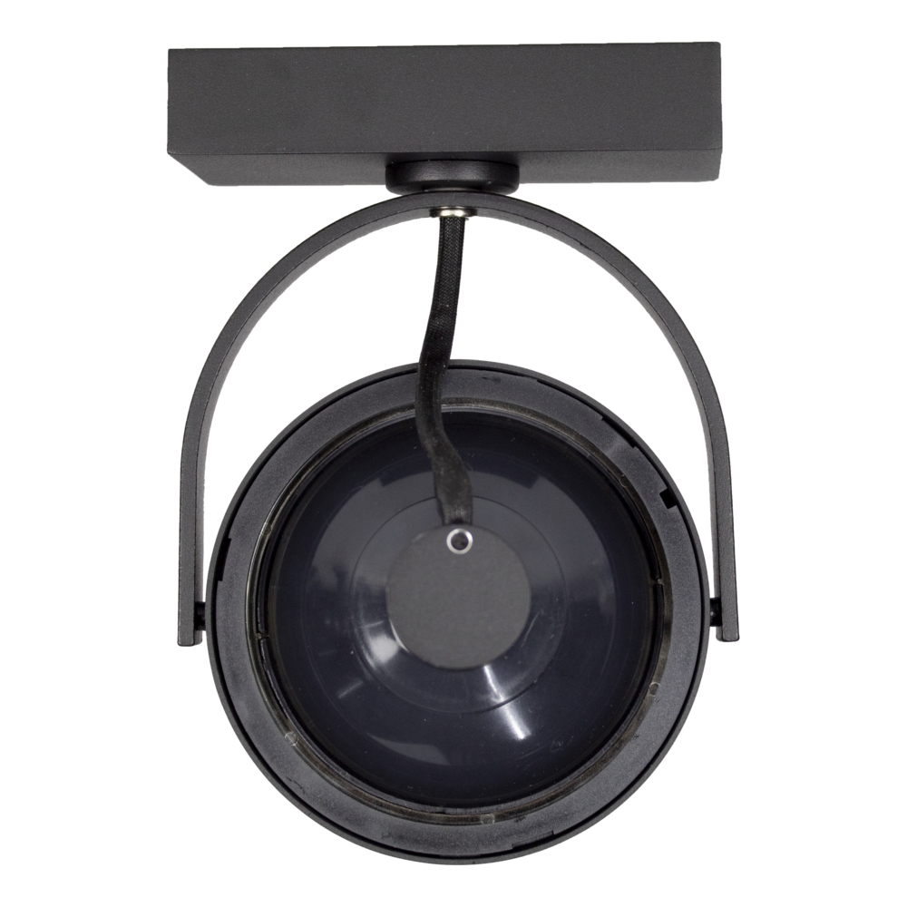 Opbouw AR111 spot armatuur - enkel - Zwart - kantelbaar - dimbaar - GU10 fitting - achterkant