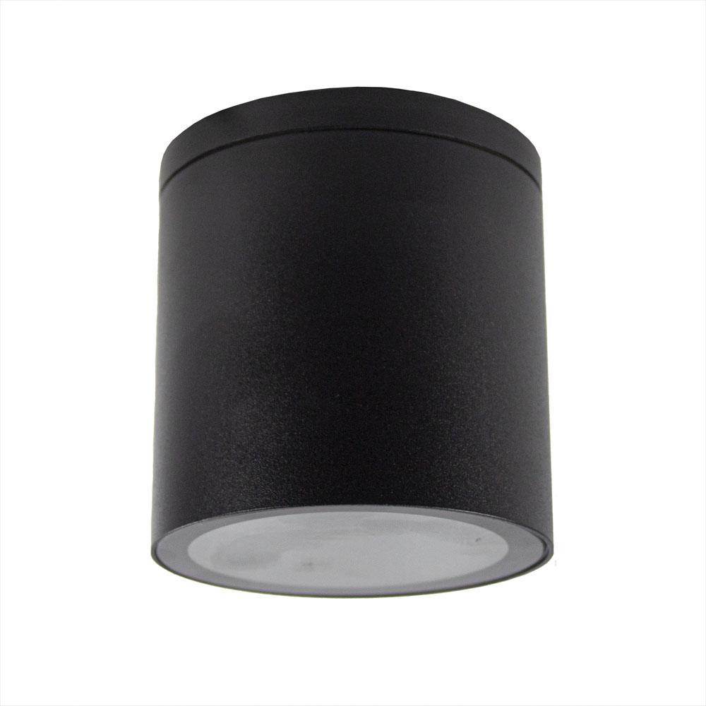 LED opbouw plafond spot GU10 fitting IP44- vooraanzicht lamp uit