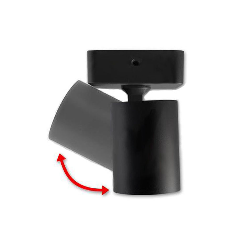 Opbouw spot enkel zwart - GU10 fitting - gekanteld