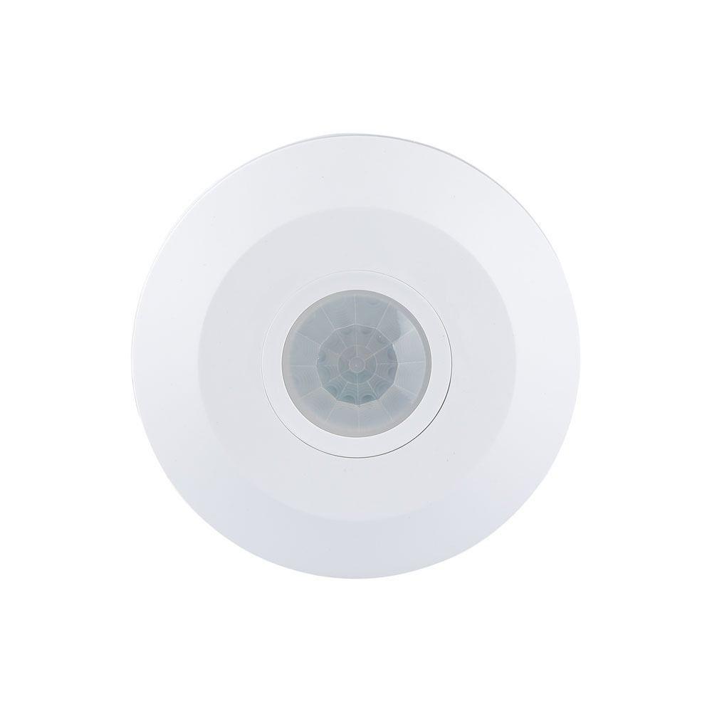 Opbouw plafond sensor - bewegingssensor 115mm - 6 meter bereik - Wit - Rond 2