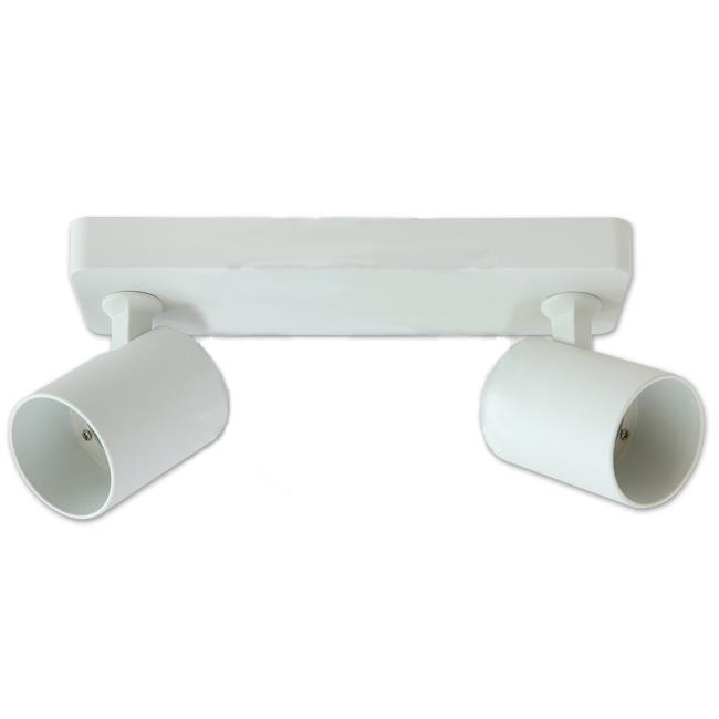 Opbouw plafond spot dubbel wit GU10 fitting