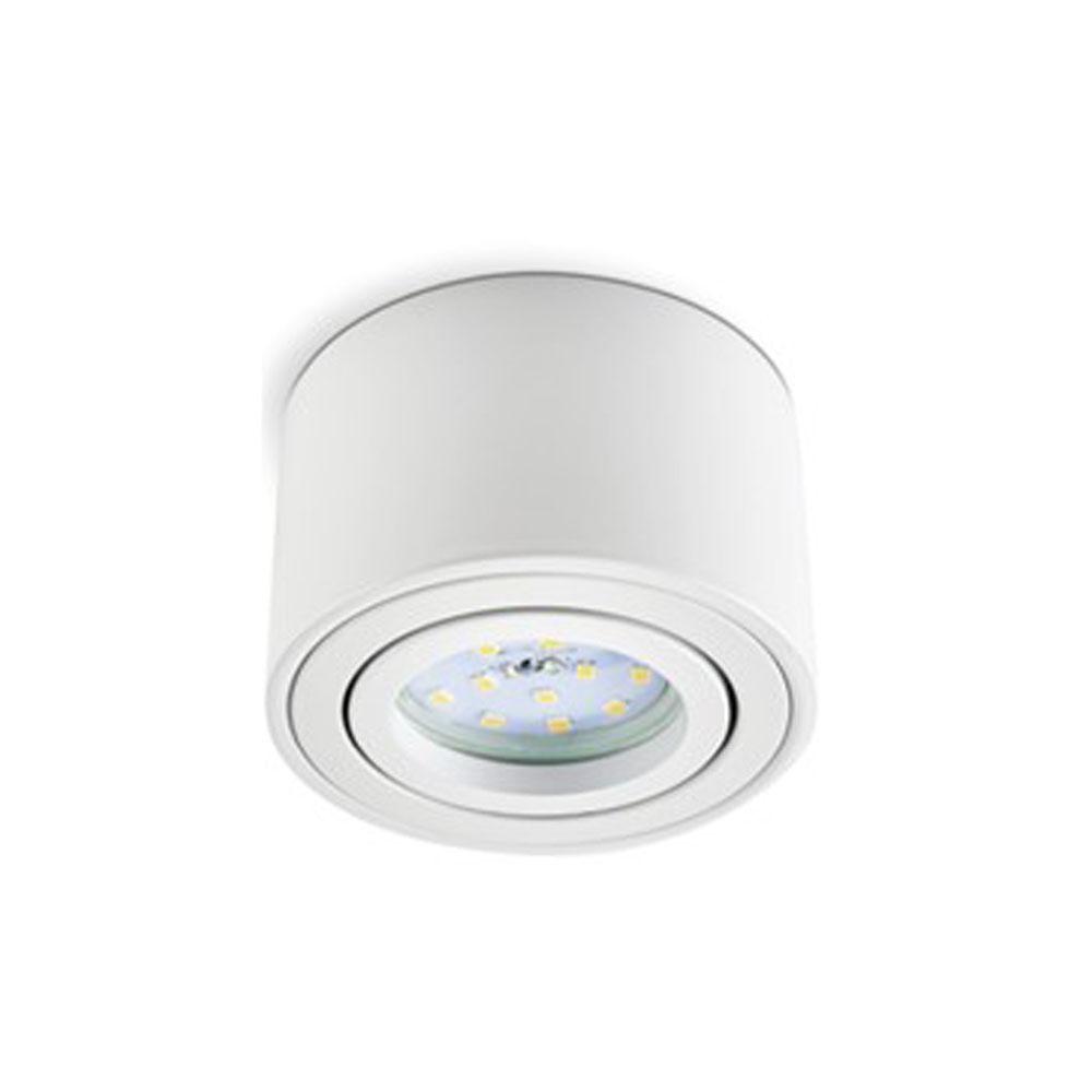 LED opbouw spot wit rond 50 mm voor module - voorkant inbouwspot