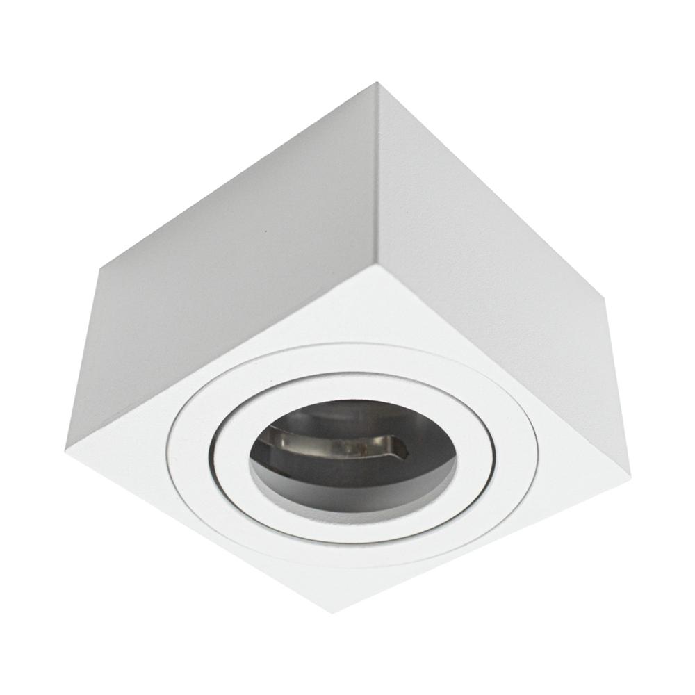 LED opbouw armatuur IP22 vierkant wit - vooraanzicht spot