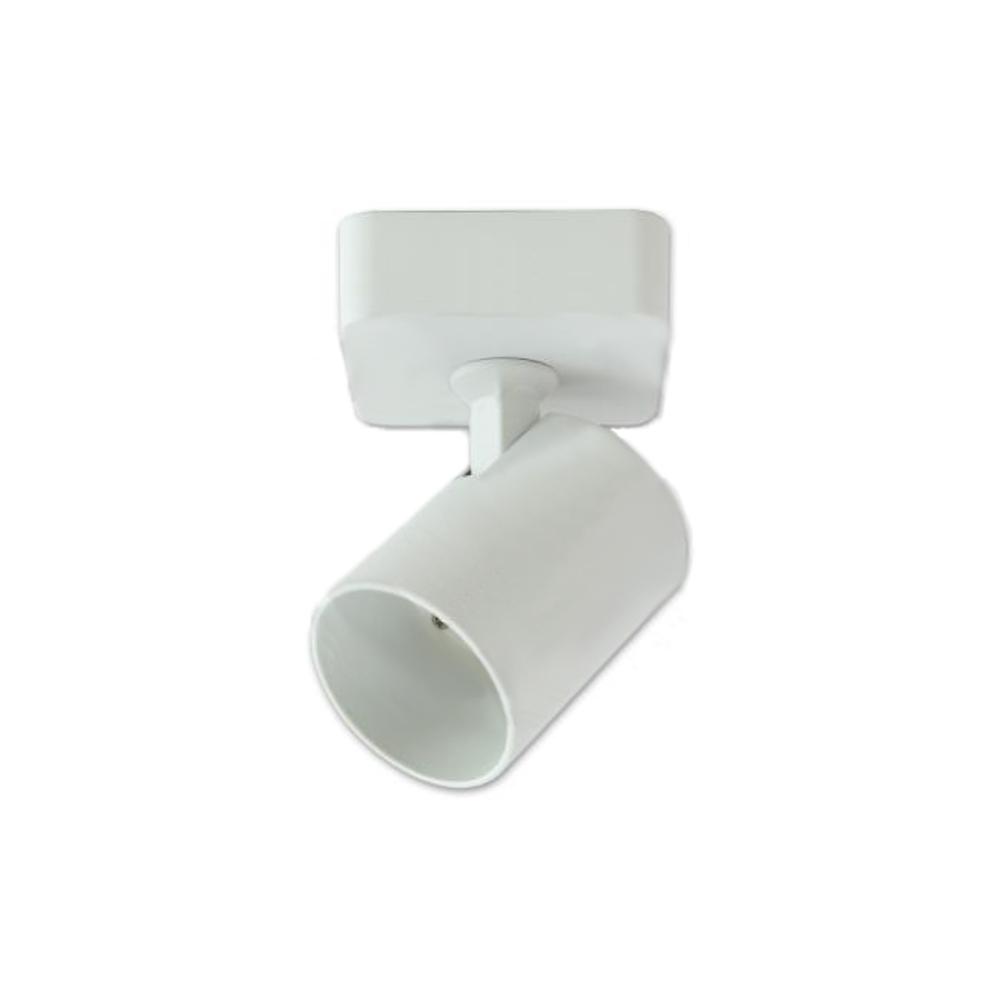 opbouw spot wit enkel GU10 fitting- zijaanzicht