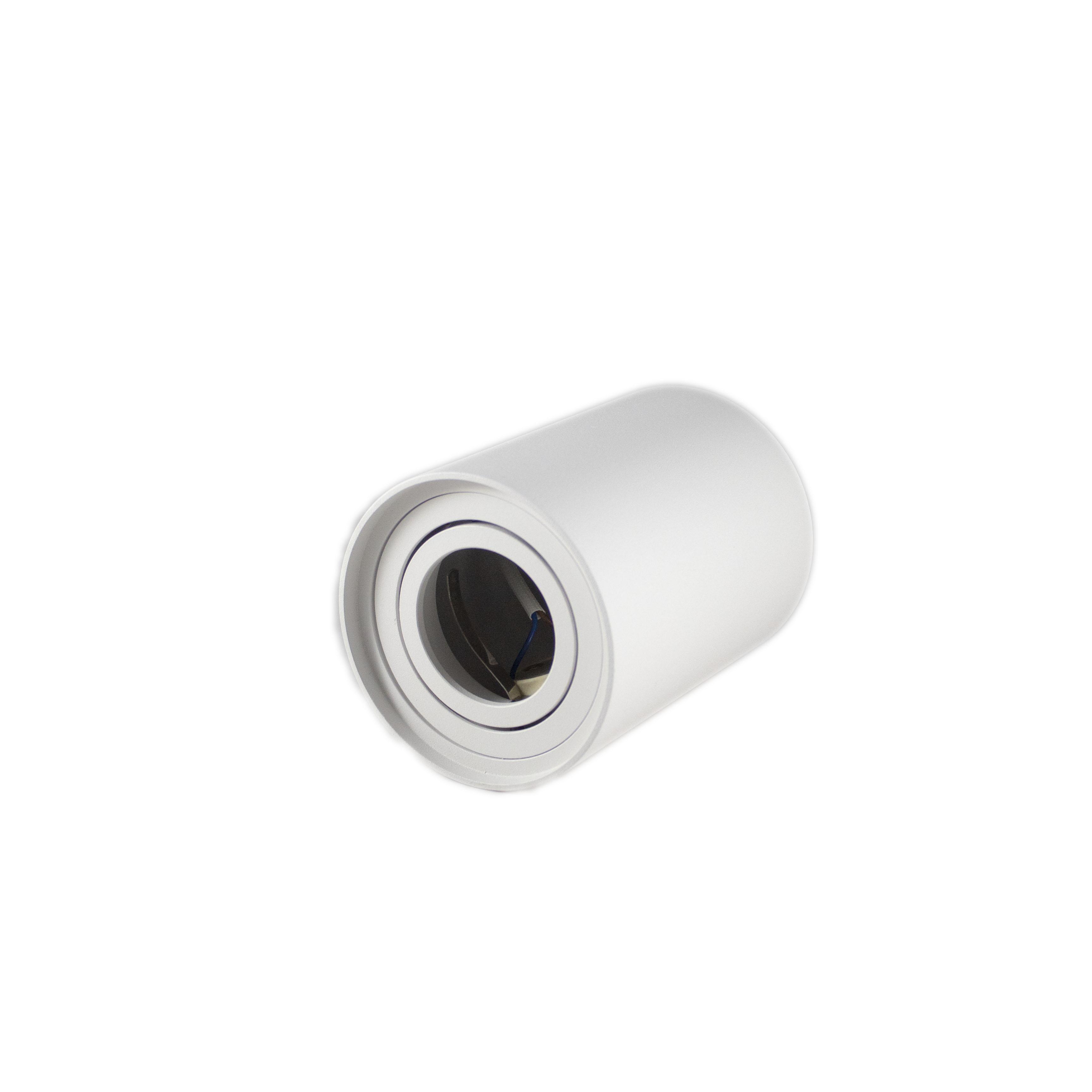 Opbouw spot armatuur wit rond kantelbaar GU10 fitting - liggend
