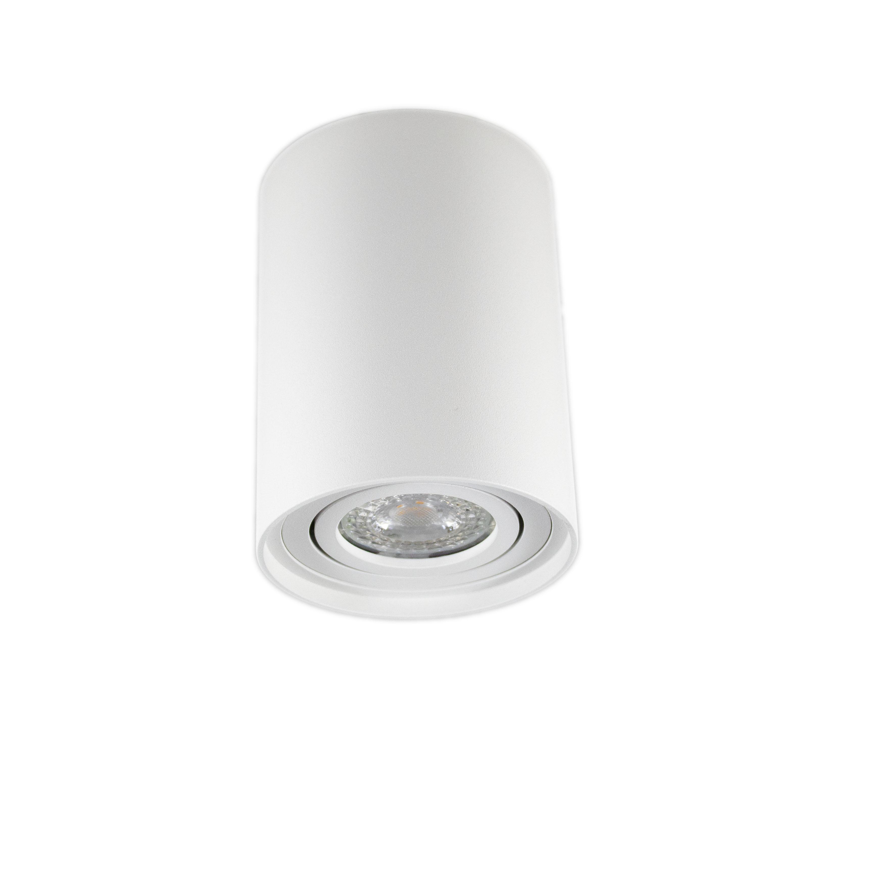 Opbouw spot armatuur wit rond kantelbaar GU10 fitting - hangend spot uit