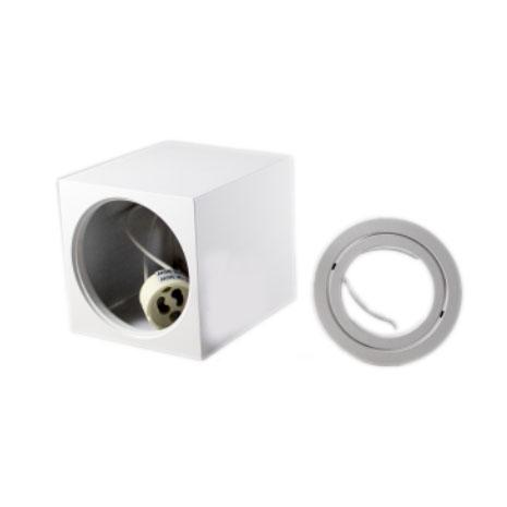 Opbouw spot armatuur wit vierkant kantelbaar GU10 fitting - onderdelen