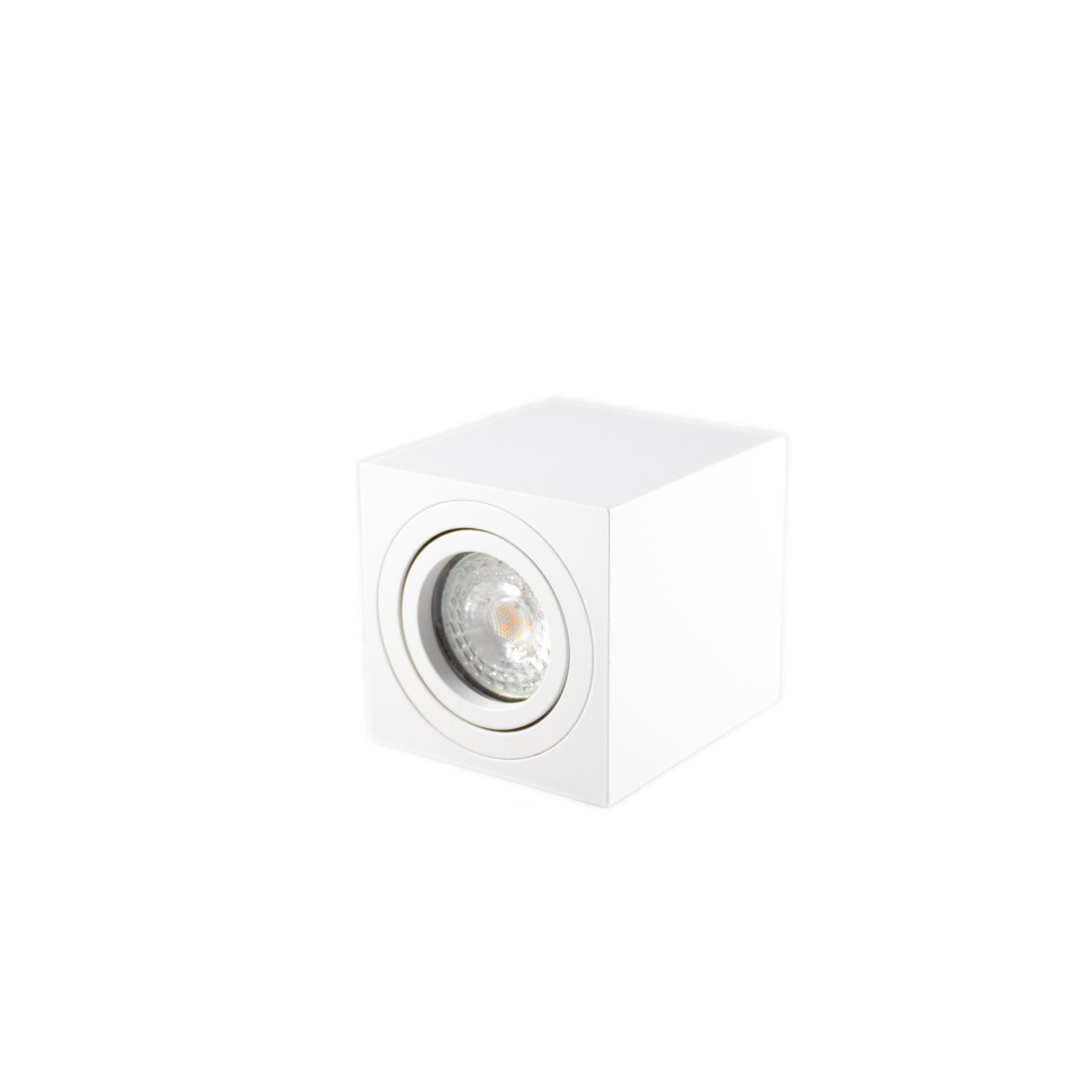 Opbouw spot armatuur wit vierkant kantelbaar GU10 fitting - liggend met spot