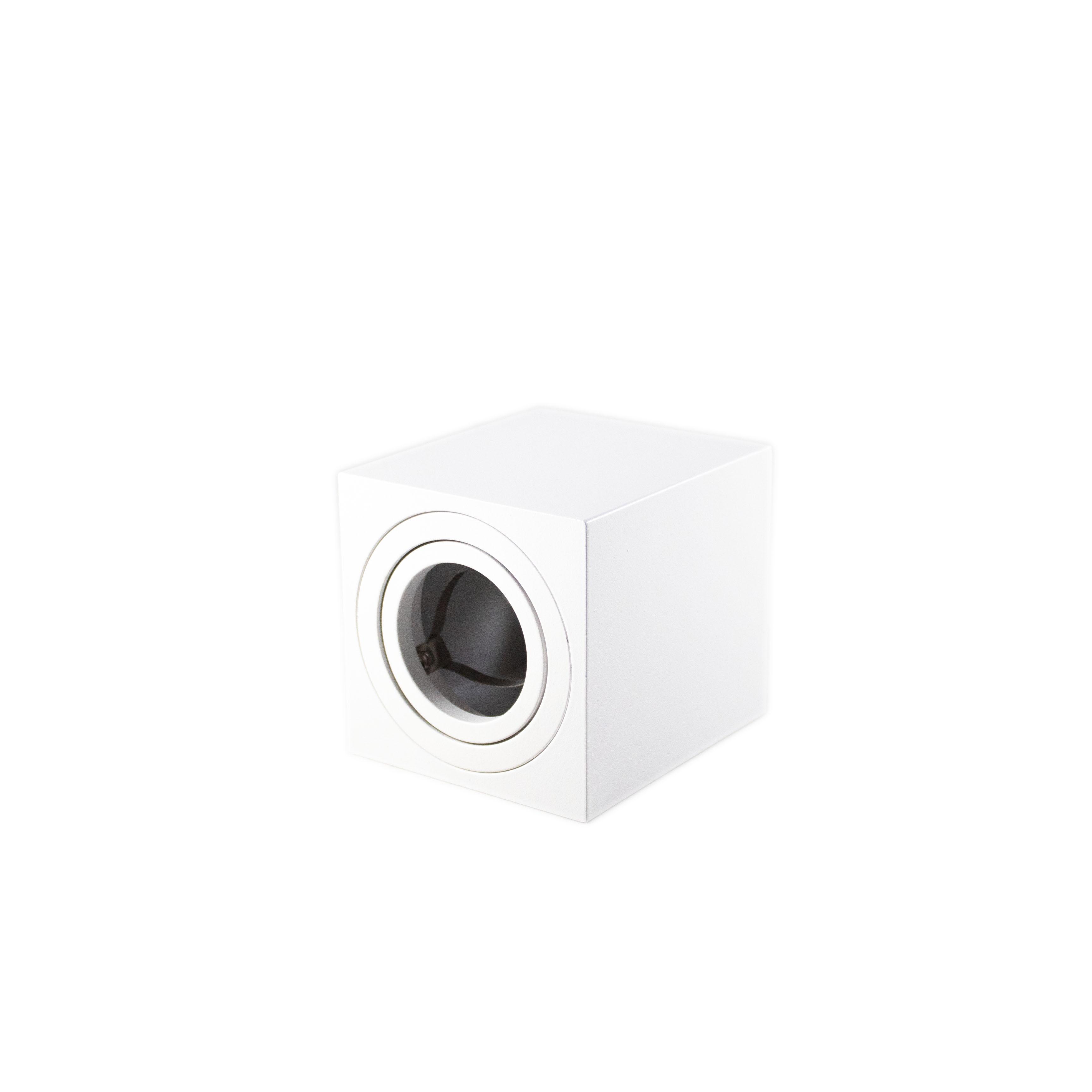 Opbouw spot armatuur wit vierkant kantelbaar GU10 fitting - liggend zonder spot