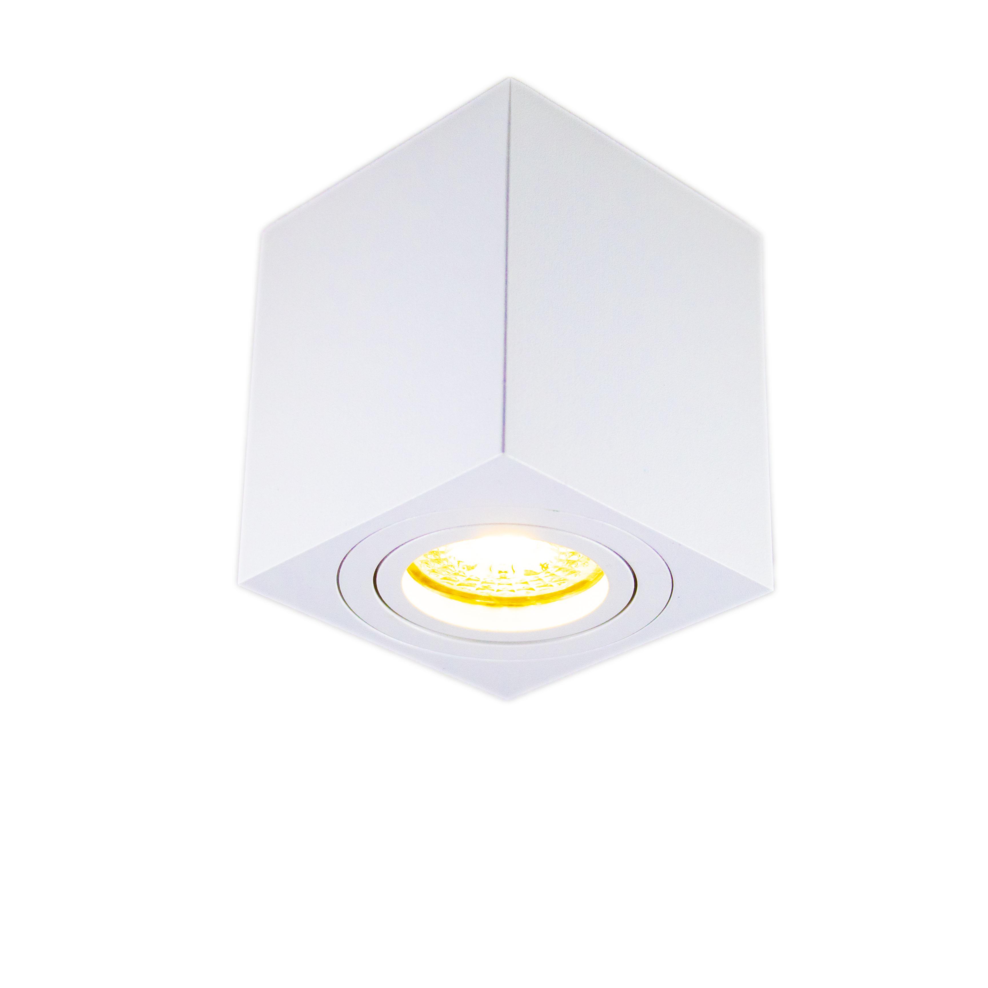 Opbouw spot armatuur wit vierkant kantelbaar GU10 fitting - spot aan