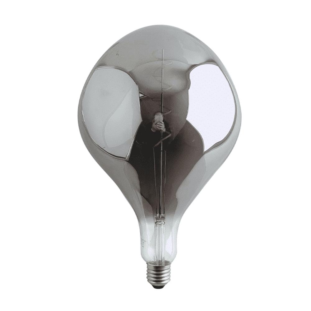 Calex Organic Globe filament LED - Smoked glass - Titanium - Zilver glas - E27 - Dimbaar - 6 watt