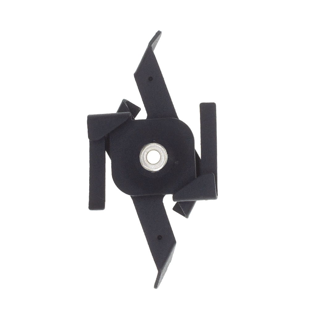 3-fase rails pendelclip zwart - voorkant clip